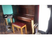 Upright piano: good condition, plays well!