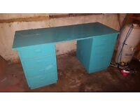 FREE Blue Wooden Desk