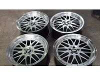 "BMW ALLOY WHEELS 5X120 BRAND NEW 19"" BBS LM REPS STAGGERED BMW F30 F31 F32 E46 E90 E91 E92 E93"