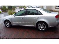 Audi A 4 s line tdi .55 plate.silver 1 year mot .full service history. diesel car.