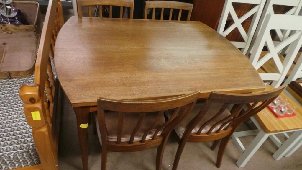 Retro Vintage Mid Century Dining Table 48 Chairs By Greaves Delectable Century Dining Room Tables