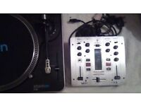 £280 neg. Excl.con. DECKS X 2 STANTON DJ DECKS X2 & MIXER VMX 100
