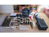 Full Photo Studio Kit - Worth over £1000 - Strobes, Lights, Backdrops, etc