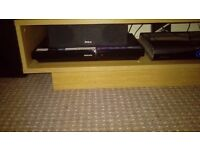 Phillips blue ray 3d DVD player with sub, sound bar and 4 surround speakers