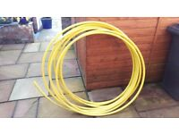 Yellow 25mm gas pipe - 20m+