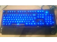QPAD MK-80 Backlit Mechanical Keyboard Cherry MX Blue Switches Perfect Condition