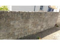 reconstituted blocks/stone,13 square metres,5 sizes,second hand