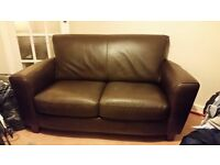 Natuzzi : Italian Leather 3 seater 2 seater and armchair. All In V/Good Condition