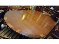 Dining room table yew wood