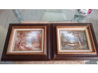 OIL ON CANVAS HAND PAINTED WITH WOODEN FRAMES