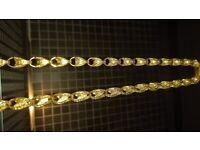 9ct gold tulip chain