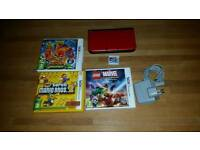 Nintendo 3DS XL - Red/Black + 4 games