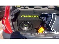 fusion car sub and amp