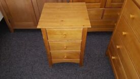 Julian Bowen Kendal 3 Drawer Bedside Can Deliver
