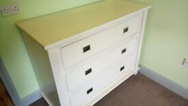 Gorgeous white chest of drawers