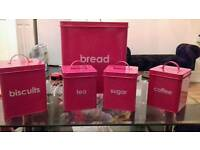 Stunning Hot Pink Brand New Bread Tea Coffee Sugar Coffee Biscuit Boxes