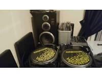 Numark tt 100 turntables numark mixer and drum and bass vinyl dj decks