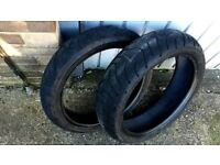 Used Motorcycle Tyres Front 120/70 17 & Back 160/60 17