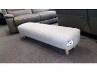 Ex Display Sofology NEVE Footstool Allure Light Grey Fabric **CAN DELIVER**