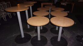 10 Circular tables for a bar etc