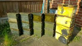 x6 EMPTY .50 Cal Ammo Cans/Boxes/Tins NATO Army Surplus CHEAP