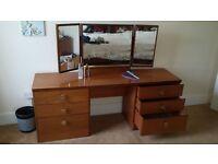 DRESSING TABLE & vanity mirror. Bereavement sale. BARGAIN £30 or OFFER!!