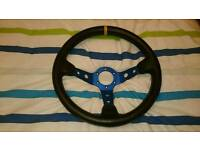 Deep dish steering wheel