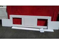 Bath side panel with detachable storage panels, brand new from Homebase, all fittings included
