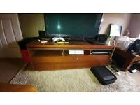 Large brown TV Unit / bench / stand