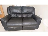 2 seats leather sofa