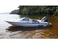 Fletcher 15 speedboat with yamaha 80 and galvanised trailer