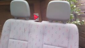Double Van seat and base in good condition apart from small tear