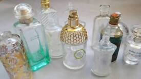 Collection of perfume glass bottles