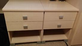 2 Drawer 1 Shelf Bedside Cabinet Good Condition