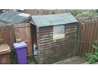 Free shed to dismantle and up lift, firewood or fix up