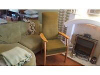 Vintage Retro Parker Knoll High Back Armchair Fireside Bedroom Chair
