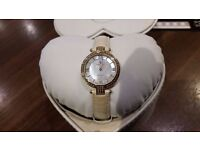 Christina Design London Ladies 24 Diamond Watch 1352gww With Rose Gold Pvd Leather Strap