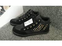 Brand new Ladies black trainers size 5