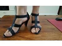 Ladies black sandals