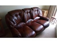 Leather 3 seater sofa & armchair £175 ono (COLLECTION ONLY)