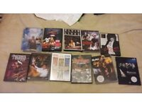 a pile of music dvds