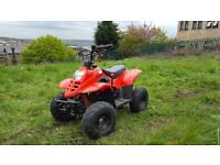 Quad 110 cc , 2,keys , straight Petrol , starts + drives well