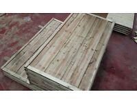 🌟 Excellent Quality Heavy Duty Waneylap Wood Fencing Panels 8mm Boards