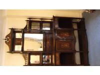 Lovely dresser. Possibly rosewood. Needs some repair. c.1900 Classical revival.