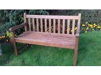 VINTAGE HEAVY DUTY 4FT LISTER HARD WOOD GARDEN BENCH