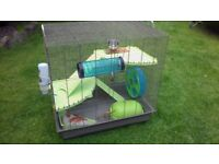 Cage (large) with all accessories for rats hamster and chinchilla