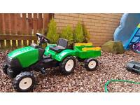 Kids play and go tractor and trailer