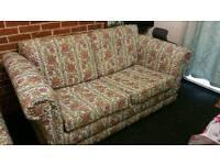 2×Green printed sofa