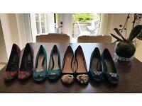 10 Pairs of Asstd colour shoes size 3 shoes