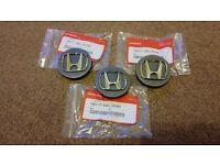 Honda Civic Blade Alloy Wheel Centre caps - Genuine Honda